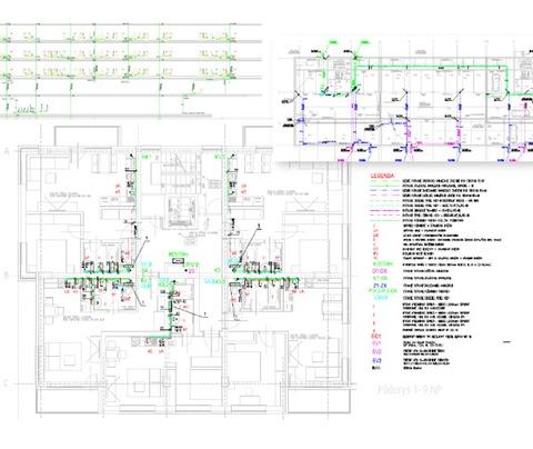 Návrh zdravotechnických inštalácií v objekte novostavby bytového domu